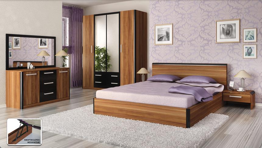 Спални комплекти Голд Аполо-Спален комплект Дорадо мерано/черно гланц