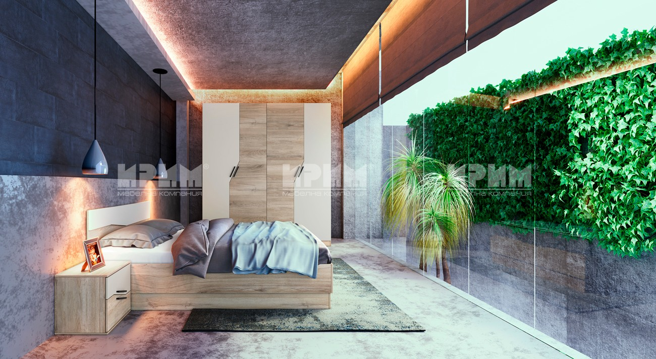 (Български) Спален комплект Ирим – City 7042